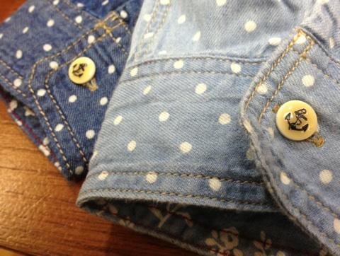 FINALDECISIONドットシャツ襟ボタン
